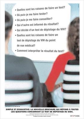Simple et exhaustive : la nouvelle brochure qui répond à toutes les questions concernant le test de dépistage du sida - image/jpeg