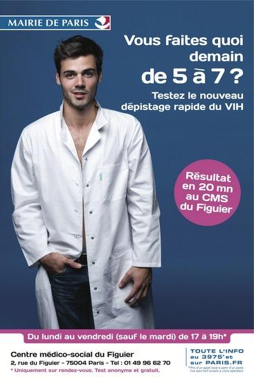 Vous faites quoi demain de 5 à 7 ? : testez le nouveau dépistage rapide du VIH, résultat en 20mn au CMS du Figuier - image/jpeg