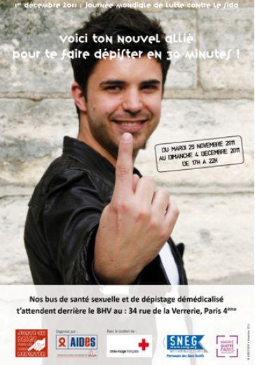 1er décembre 2011, Journée mondiale de lutte contre le sida : voici ton nouvel allié pour te faire dépister en 30 minutes ! - image/jpeg