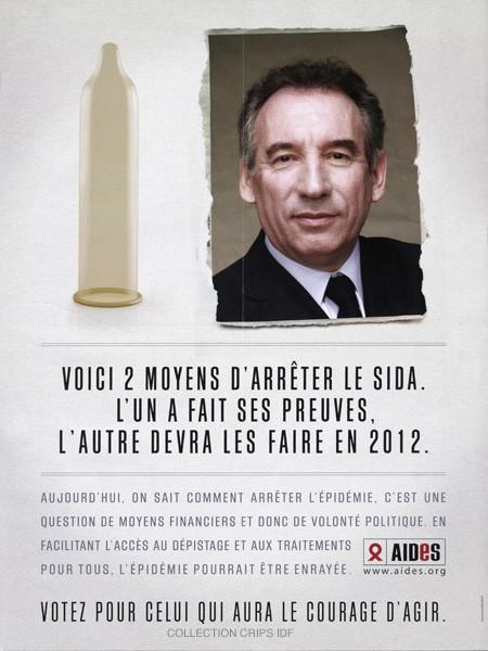 Voici 2 moyens d'arrêter le sida : l'un a fait ses preuves, l'autre devra les faire en 2012 [François Bayrou] - image/jpeg
