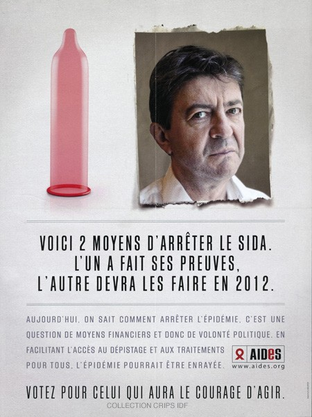Voici 2 moyens d'arrêter le sida : l'un a fait ses preuves, l'autre devra les faire en 2012 [Jean-Luc Mélanchon] - image/jpeg