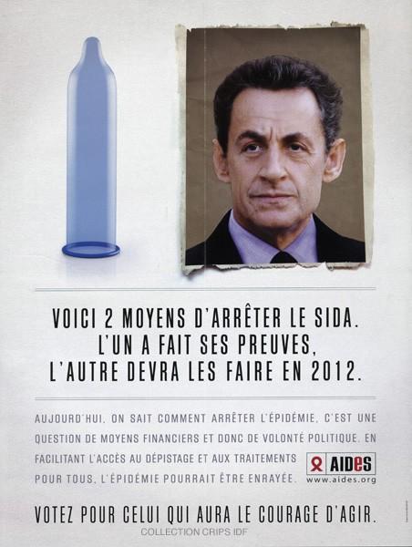 Voici 2 moyens d'arrêter le sida : l'un a fait ses preuves, l'autre devra les faire en 2012 [Nicolas Sarkozy] - image/jpeg