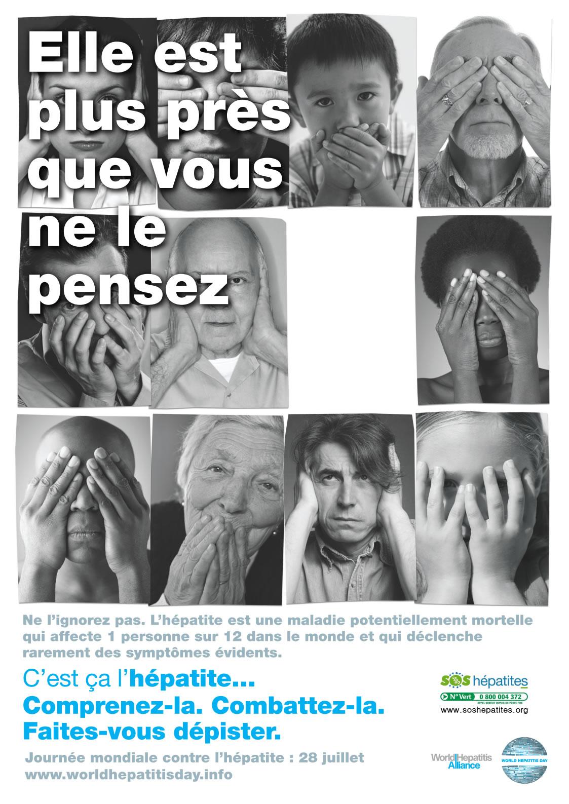 Elle est plus près de vous que vous ne le pensez... Journée mondiale contre l'hépatite 28 juillet - image/jpeg