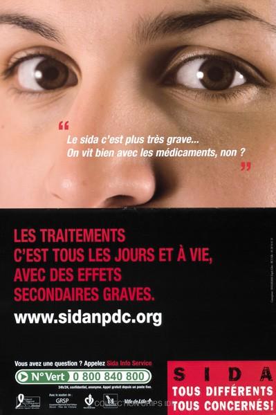 Le sida c'est plus très grave, on vit bien avec les médicaments, non ? : les traitements c'est tous les jours et à vie, avec des effets secondaires graves - URL