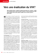 Vers une éradication du VIH ? - application/x-pdf
