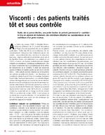 Visconti : des patients traités tôt et sous contrôle - application/x-pdf