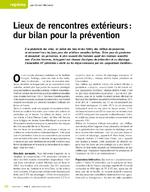 Lieux de rencontres extérieurs : dur bilan pour la prévention - application/x-pdf