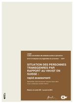 Raisons de santé n° 209 Situation des personnes transgenres par rapport au VIH en Suisse - application/x-pdf