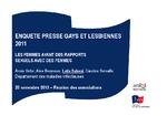 Enquête presse gays et lesbiennes 2011 : les femmes ayant des rapports sexuels avec des femmes - application/x-pdf