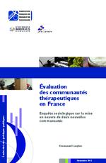 Évaluation des communautés thérapeutiques en France - application/x-pdf