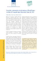 Sexualité, contraception et prévention en Ile-de-France : résultats de l'enquête Inpes-Baromètre Santé de 2010 - application/x-pdf