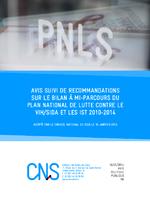 Avis suivi de recommandations sur le bilan à mi-parcours du Plan national de lutte contre le VIH/sida et les IST 2010-2014 - application/x-pdf