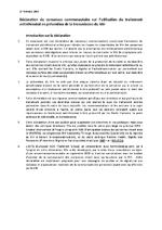 Déclaration de consensus communautaire sur l'utilisation du traitement antirétroviral en prévention de la transmission du VIH - application/x-pdf