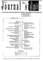 Journal du sida (Le). n° 40  - application/x-pdf