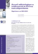 Accueil addictologique et médicosocial de femmes toxicodépendantes - application/x-pdf