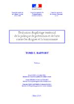 Rapport d'évaluation du pilotage territorial de la politique de prévention et de lutte contre les drogues et la toxicomanie  - application/x-pdf