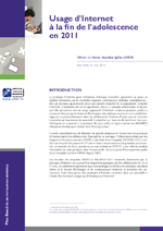 Usages d'Internet à la fin de l'adolescence en 2011 - application/x-pdf