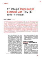 11e colloque Toxicomanies Hépatites Sida - application/x-pdf