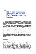 Réduction des risques et préventin des hépatites B et C chez les usagers de drogues (Rapport d'experts 2014 Chapitre 4) - application/x-pdf