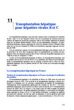 Transplantation hépatique pour hépatites virales B et C (Rapport d'experts 2014 Chapitre 11) - application/x-pdf
