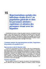 Représentations sociales des infections virales B et C en population générale et chez les personnes atteintes : expériences et attentes des personnes vivant avec les hépatites (Rapport d'experts 2014 Chapitre 15) - application/x-pdf