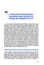 L'éducation thérapeutique du patient dans la prise en charge des hépatites B et C (Rapport d'experts 2014 Chapitre 16) - application/x-pdf