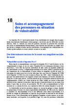 Soins et accompagnement des personnes en situation de vulnérabilité (Rapport d'experts 2014 Chapitre 18) - application/x-pdf