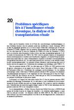 Problèmes spécifiques liés à l'insuffisance rénale chronique, la dialyse et la transplantation rénale (Rapport d'experts 2014 Chapitre 20) - application/x-pdf