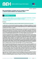 BEH Vol 2014 n° 16-17 Recommandations sanitaires pour les voyageurs, 2014 - application/x-pdf
