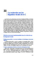 La recherche sur les hépatites virales B et C (Rapport d'experts 2014 Chapitre 22) - application/x-pdf