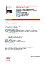 """Fiche descriptive """"Corps, communication et violence à l'adolescence"""" - application/x-pdf"""