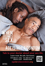 When it comes to sex... age is not a condom : talk to your doctor about your sex life (3/4) - image/jpeg
