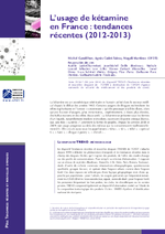 L'usage de kétamine en France : tendances récentes (2012-2013) - application/x-pdf