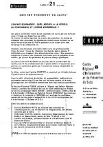Lettre du CRIPS Ile-de-France. n° 21: L'enfant séropositif, quel accueil à la crèche, la pouponnière et l'école maternelle ? - application/x-pdf