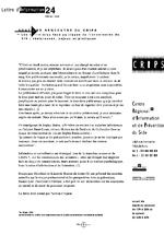 Lettre du CRIPS Ile-de-France. n° 24: Les infirmières face au risque de transmission du VIH - application/x-pdf