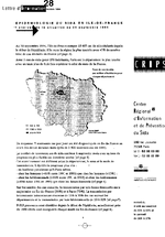 Lettre du CRIPS Ile-de-France. n° 28: Epidémiologie du sida en Ile-de-France : analyse de la situation au 30 septembre 1994 - application/x-pdf