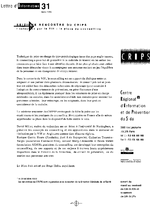 Lettre du CRIPS Ile-de-France. n° 31: Infection par le VIH, la place du counselling - application/x-pdf