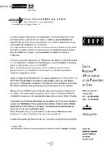 Lettre du CRIPS Ile-de-France. n° 32: Eliminer les déchets contaminés, comment s'organiser ? - application/x-pdf