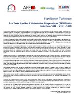Les tests rapides d'orientation diagnostique (Trod) des infections VIH - VHC - VHB supplément technique - application/x-pdf