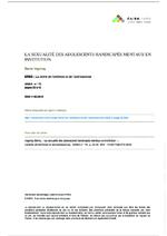 La sexualité des adolescents handicapés mentaux en institution - application/pdf