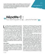 Hépatite C : tout vient à point à qui... peut attendre - application/x-pdf