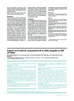 Enquête sur le mode de consommation de la chicha (narguilé) en 2007 en France - application/x-pdf