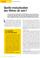 Quelle mutualisation des filères de soin ? - application/x-pdf