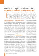 Réduire les risques dans les teknivals : urgence et limites de la prévention - application/x-pdf