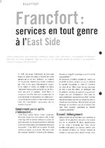 Francfort : services en tout genre à l'East Side - application/x-pdf