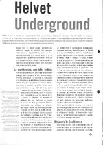 10ème Conférence internationale sur la réduction des risques liés aux drogues :- Helvet underground- Tour d'horizon - application/x-pdf