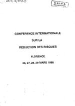 6ème Conférence internationale sur la réduction des risques, Florence 26-29 mars 1995 - application/x-pdf