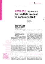 HPTN 052 : retour sur les résultats que tout le monde attendait - application/x-pdf