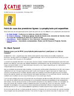 Point de vues des premières lignes : la prophylaxie pré-exposition - application/x-pdf
