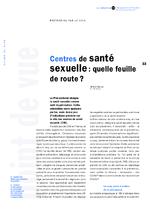 Centres de santé sexuelle : quelle feuille de route ? - application/x-pdf